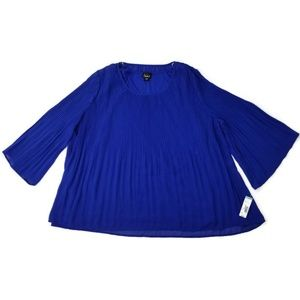 Simply Emma Plus Sz 2X Pleated Chiffon Blouse MWT